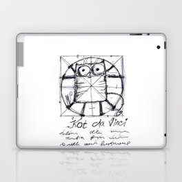 Kot da Vinci (black and whie) Laptop & iPad Skin