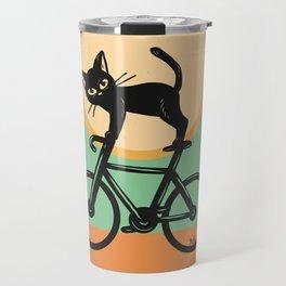 Cat loves a bike Travel Mug