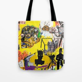 Collage Basquiat Tote Bag