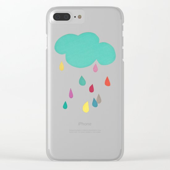 Sunshine and Showers Clear iPhone Case