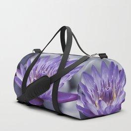 Purple Water Lily Duffle Bag