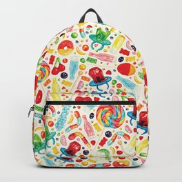 Candy Pattern - White Backpack