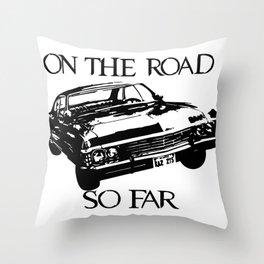 On the road so far  Throw Pillow