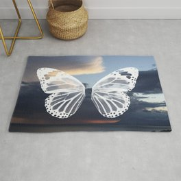 Butter wings Rug