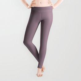 Solid Color Series - Desaturated Magenta Leggings