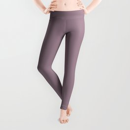 Solid Color Series - Desaturated Magenta Leggings