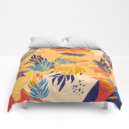 Primary Colors Leaves Comforters
