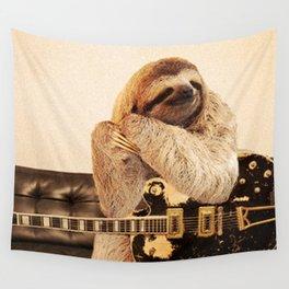 Rock Star Sloth 2# Wall Tapestry