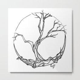 Moon tree Metal Print