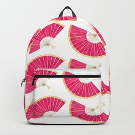 M's Folding Fan Gold and Pink Backpack