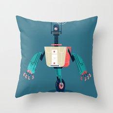:::Mini Robot-Dynamo::: Throw Pillow