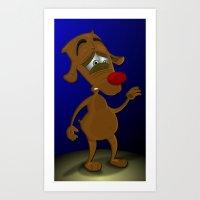 Scared Dog Art Print