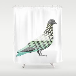 Tessellated Pigeon Shower Curtain