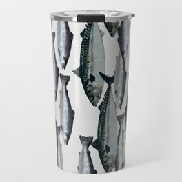 Tuna and Salmon Fish Design Travel Mug