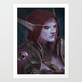 The Banshee Queen Art Print