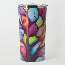 Watercolor Mosaic Tree Travel Mug