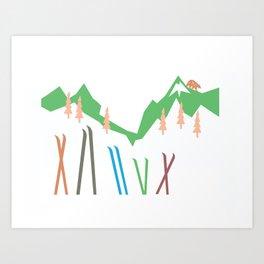 Backcountry Skiing Art Print