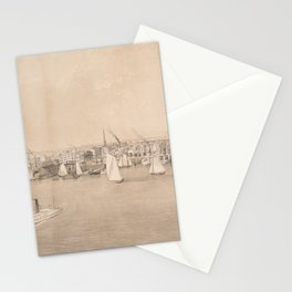 Vintage Pictorial View of Jersey City NJ (1866) Stationery Cards