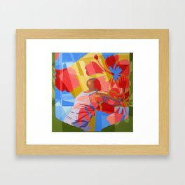 Man with Flower Framed Art Print