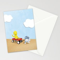 SW Kids - C3PO & R2D2 Red Wagon Stationery Cards