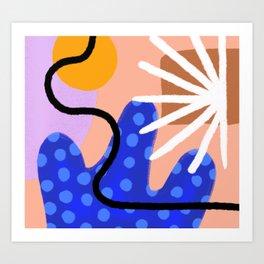 Desert Abstract Art Print