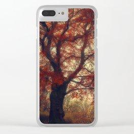 Copper Beech Clear iPhone Case