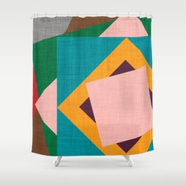 Kilim Flower grey Shower Curtain
