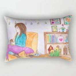 Rainy day at home Rectangular Pillow