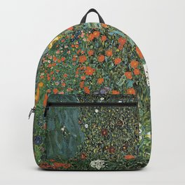FARM GARDEN WITH SUNFLOWERS - GUSTAV KLIMT Backpack