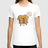bread T-shirts featuring bread by Melissa Ballesteros Parada