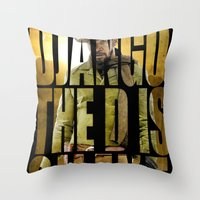 django Throw Pillows featuring Django Unchained by SB Art Productions