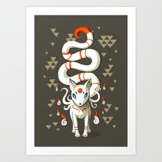 Long Tail Fox Art Print