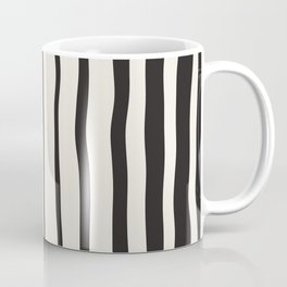 Black stripes, striping print Coffee Mug