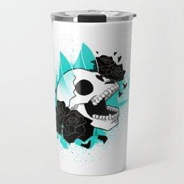 Skull 'n' Roses (ScribbleNetty-Colored) Travel Mug