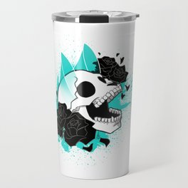 Skull 'n' Roses (ScribbleNetty-Colored) Travel Mug
