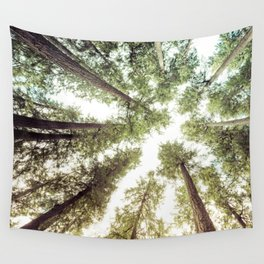 Green Forest Sky Trees Wall Tapestry