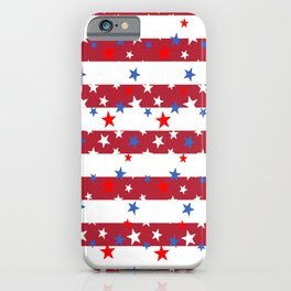 Star Spangled Red and White Stripes iPhone Case