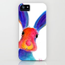 Happy Hare ' BuGsY ' by Shirley MacArthur iPhone Case