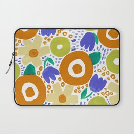 Bold Abstract Floral Inspired Pattern (Harvest Colors) Laptop Sleeve