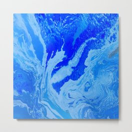 Fluid Blue Metal Print