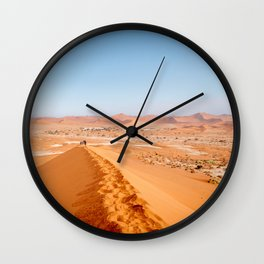 Sossusvlei Namibia - TRAVEL PHOTOGRAPHY & LANDSCAPES Wall Clock