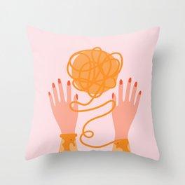 A Ball of String Throw Pillow