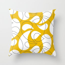 Birdsong Drops Throw Pillow