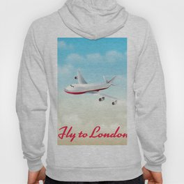 Fly to London vintage travel poster Hoody