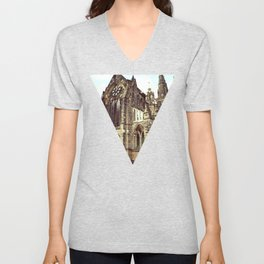glasgow cathedral medieval cathedral Unisex V-Neck