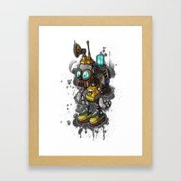 Robot Kid Framed Art Print