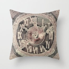 Klok Noir Throw Pillow