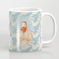 beard Mugs featuring Sailor by Seaside Spirit