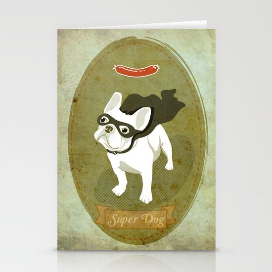 Super Dog Stationery Cards