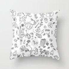 RANDOM SPACE - HOPPER- OSC - TANUKI026 Throw Pillow